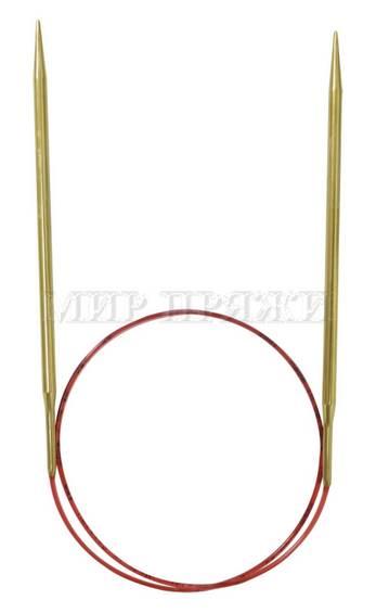 Спицы Addi круговые, позолоченные, с удлиненным кончиком