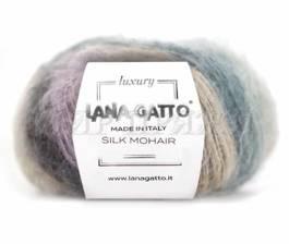 Silk Mohair printed