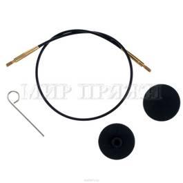 Тросик для съемных спиц с золотым напылением, длина 20 см (40 см со спицами), KnitPro