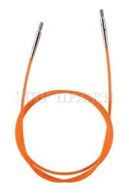 Тросик оранжевый для съемных спиц длина 56 см (80 см со спицами), KnitPro