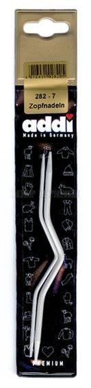 Спицы Addi для вязания кос и жгутов, металл 2 шт